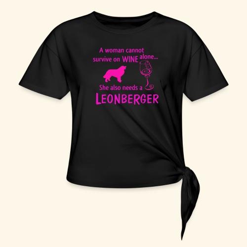 Wine&Leonberger - T-shirt med knut dam