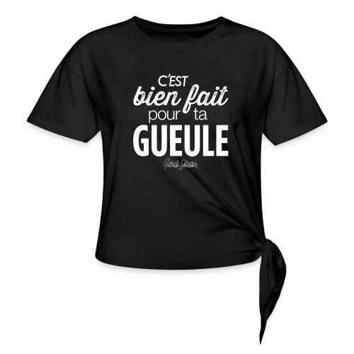 Bien fait - T-shirt à nœud