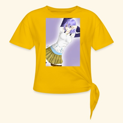 Mizore Shirayuki - Women's Knotted T-Shirt