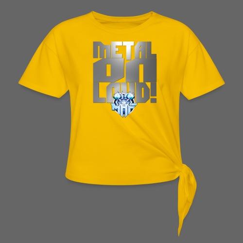metalonloud large 4k png - Women's Knotted T-Shirt