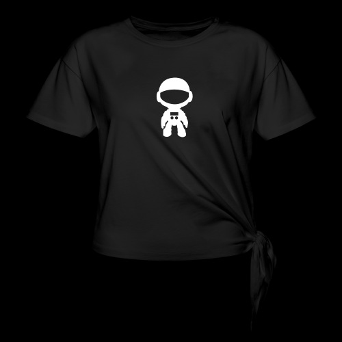 haustronaut white - Camiseta con nudo mujer