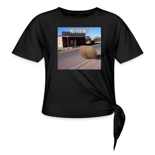 NOTHING - T-shirt à nœud