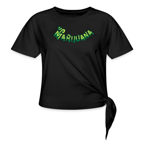 Om Marijuana - Knotted T-Shirt