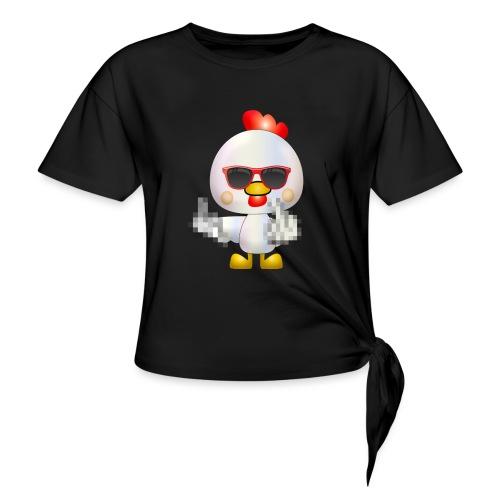 Poule F*** - T-shirt à nœud Femme