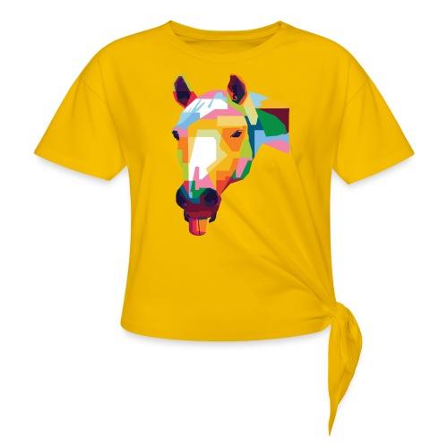 Pferde WPAP Design - Frauen Knotenshirt