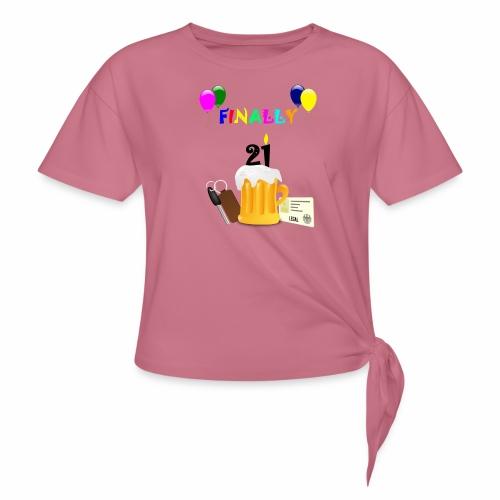 Finally 21 (2) - Women's Knotted T-Shirt