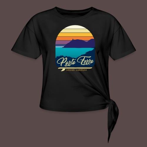 Porto Ferro - Vintage travel sunset - Maglietta annodata