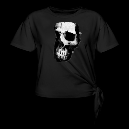 teschio darktrasp - Maglietta annodata da donna