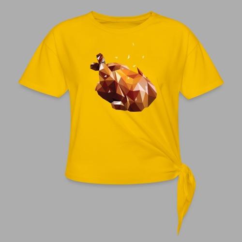 Turkey polyart - Knotted T-Shirt