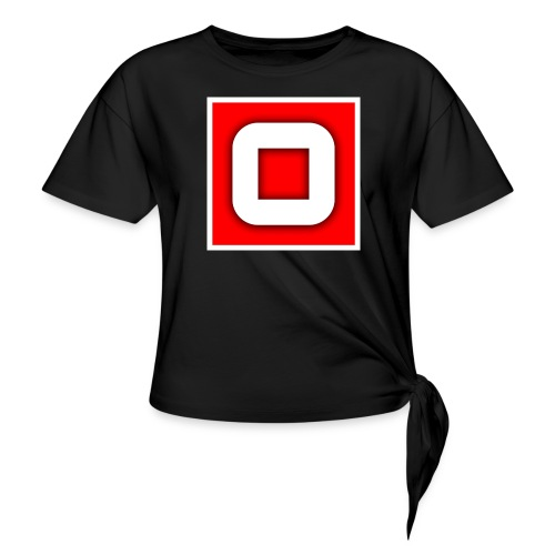 Vanlig Logo (tonåring) - T-shirt med knut dam