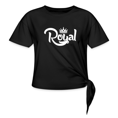 Royal Logo White Edition - Knotted T-Shirt