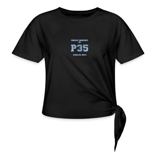 P35PROPERTYOF2 - Frauen Knotenshirt