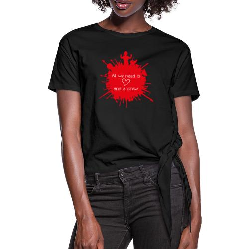 ALL WE NEED IS LOVE - Vrouwen Geknoopt shirt