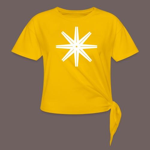 GBIGBO zjebeezjeboo - Rock - Octastar Blanc - T-shirt à nœud Femme
