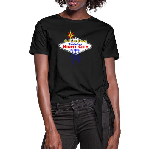 Welcome to fabulous Night City Cyber Punk 2077 - Frauen Knotenshirt