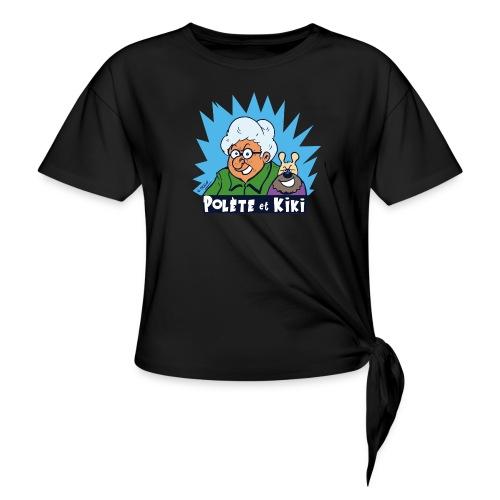 tshirt polete et kiki - T-shirt à nœud