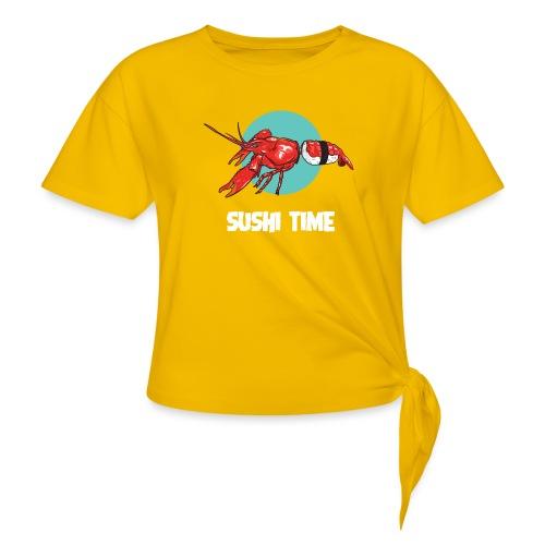 SUSHI TIME-gambero-b - Maglietta annodata da donna