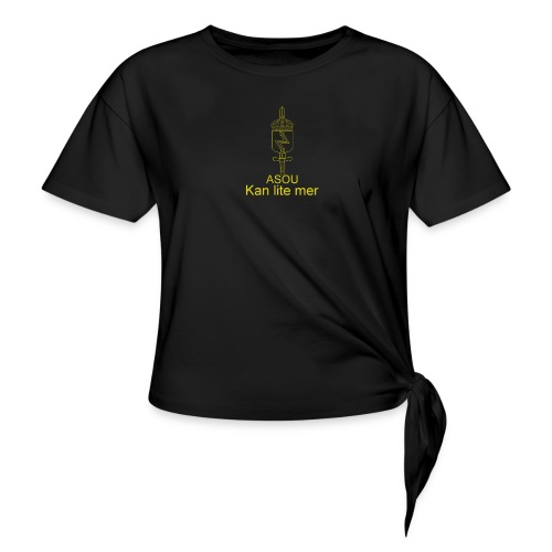 LedSS text png - T-shirt med knut dam