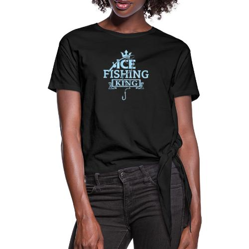 Ice Fishing Winter Fun - Knotted T-Shirt