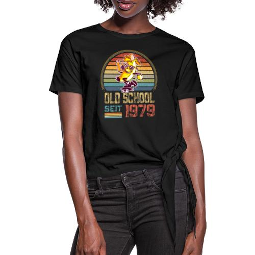 Jahrgang 1979 Skateboard Geburtstag 1979 Geschenk - Frauen Knotenshirt