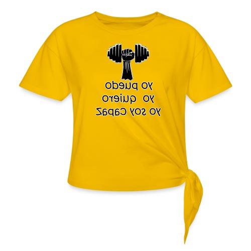 Para el Espejo: GYM - YO PUEDO - Camiseta con nudo