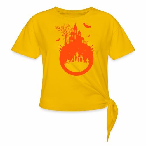Halloween Design - Das Spukhaus - Knotenshirt
