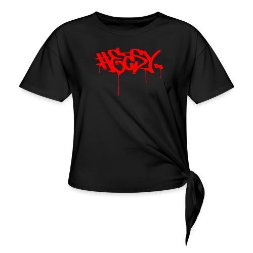 #EASY Graffiti Logo T-Shirt - Maglietta annodata da donna