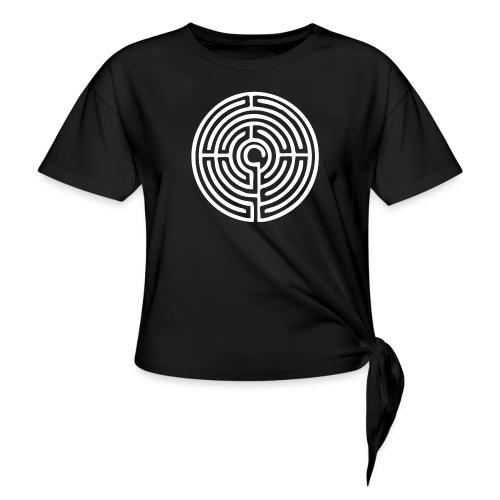 Labyrinth Schutzsymbol Lebensweg Magie Mystik - Frauen Knotenshirt