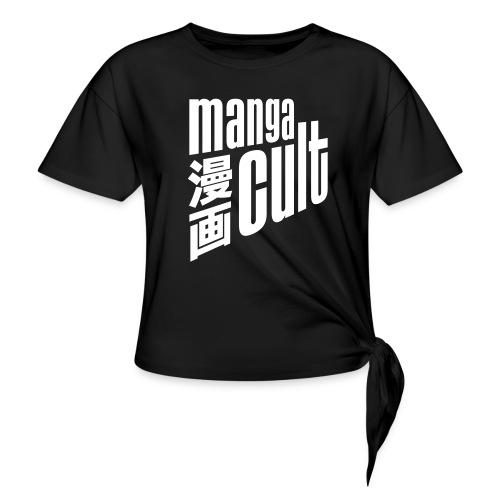 Manga Cult Logo Weiß - Frauen Knotenshirt