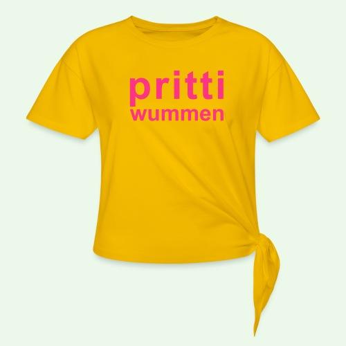 pritti wummen // pretty woman // girl power - Frauen Knotenshirt