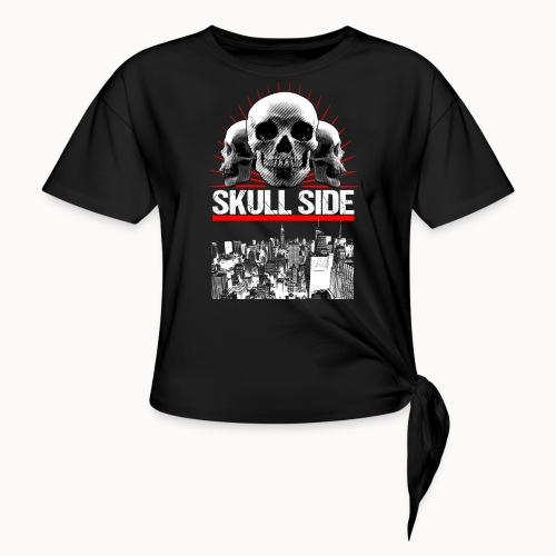 skull side city - Frauen Knotenshirt