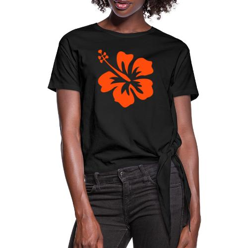 hibiscus - T-shirt à nœud Femme