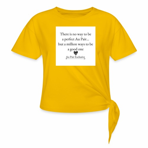 Perfect au pair - Vrouwen Geknoopt shirt