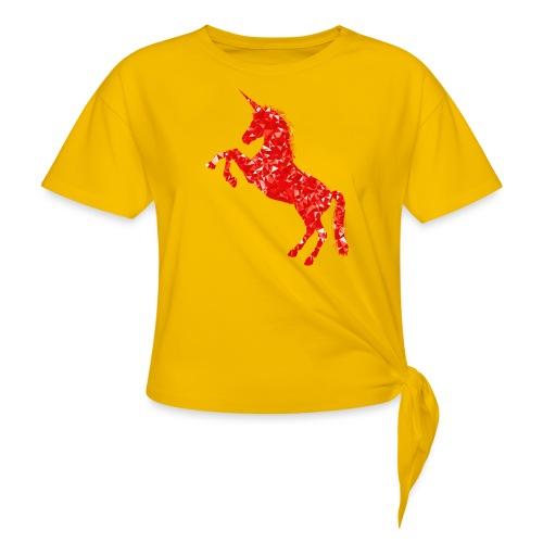 unicorn red - Koszulka z wiązaniem