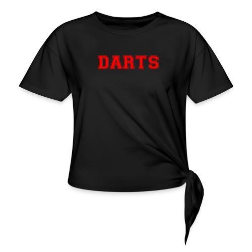 DARTS - Schriftzug in rot - Knotenshirt