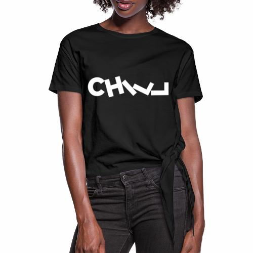 CHILL, RELAX - Knotted T-Shirt