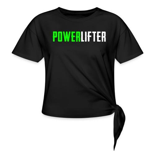 POWERLIFTER - weiß grün - Frauen Knotenshirt