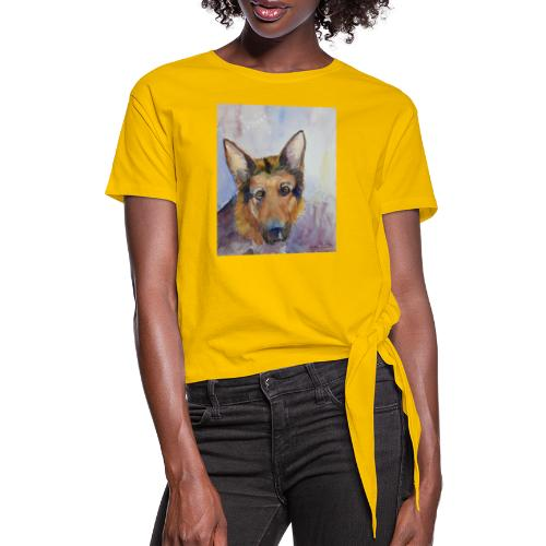 german shepherd wc - Dame knot-shirt