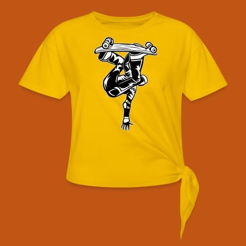 Skater / Skateboarder 03_schwarz weiß - Knotenshirt