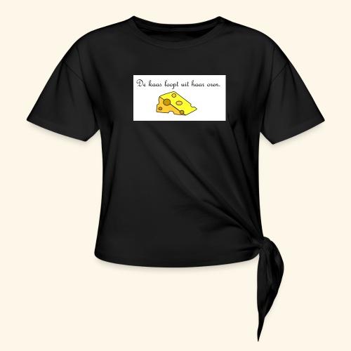 Kaas loopt uit haar oren - Temptation - Geknoopt shirt