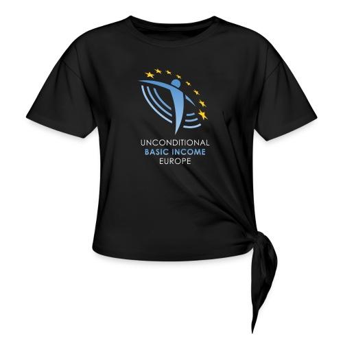 02 ubie on black centered png - Vrouwen Geknoopt shirt