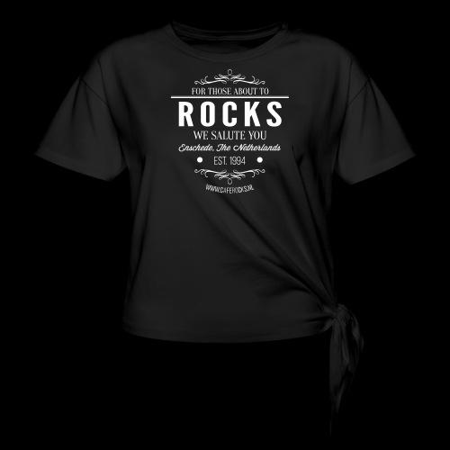 Vintage Rocks Label - Vrouwen Geknoopt shirt