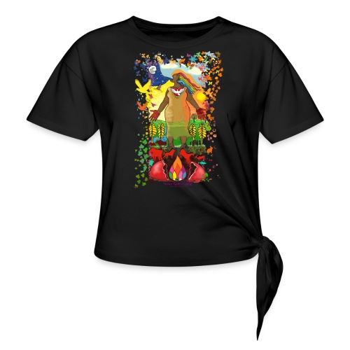Mother Earth Creating - Vrouwen Geknoopt shirt