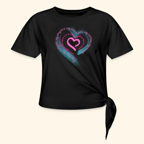 Corazón Ajeno - Camiseta con nudo mujer