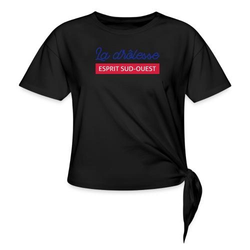 La drôlesse - T-shirt à nœud