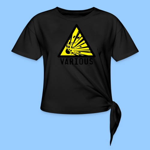VariousExplosions Triangle (2 colour) - Knotted T-Shirt