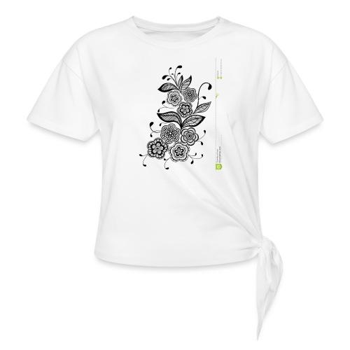diseño de flores - Camiseta con nudo mujer