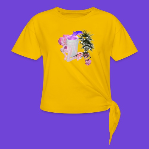 Purple Drank - Maglietta annodata da donna