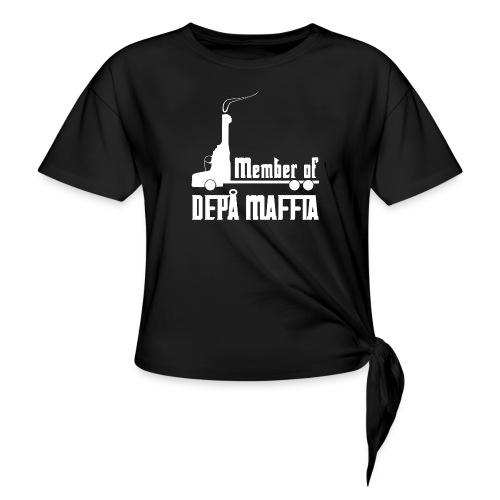 Depå Maffia vitt tryck - T-shirt med knut