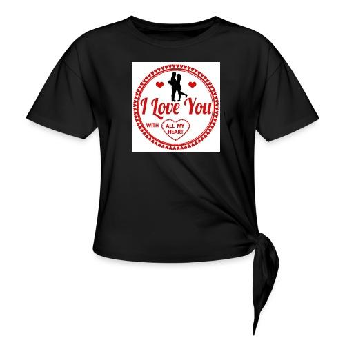 I love you tshirt - T-shirt à nœud Femme